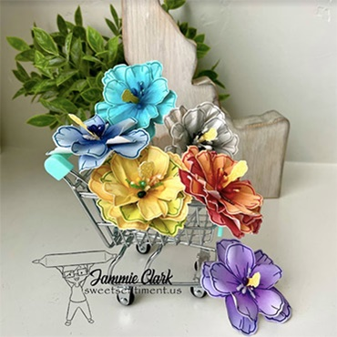 Amazingly Sweet 3D Colored Flowers