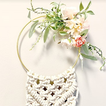 Macrame Floral Ring Wreath